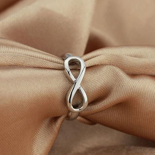 925 Sterling Silver Endless Love Infinity Ring