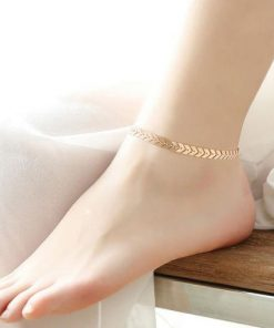 Boho Fishbone Chain Anklets Fashion Anklet
