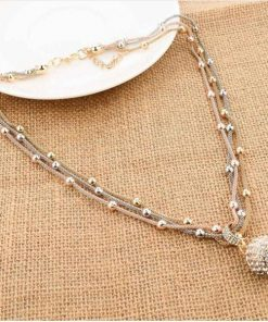 gold-ball-necklace-rhinestone-pendant-3